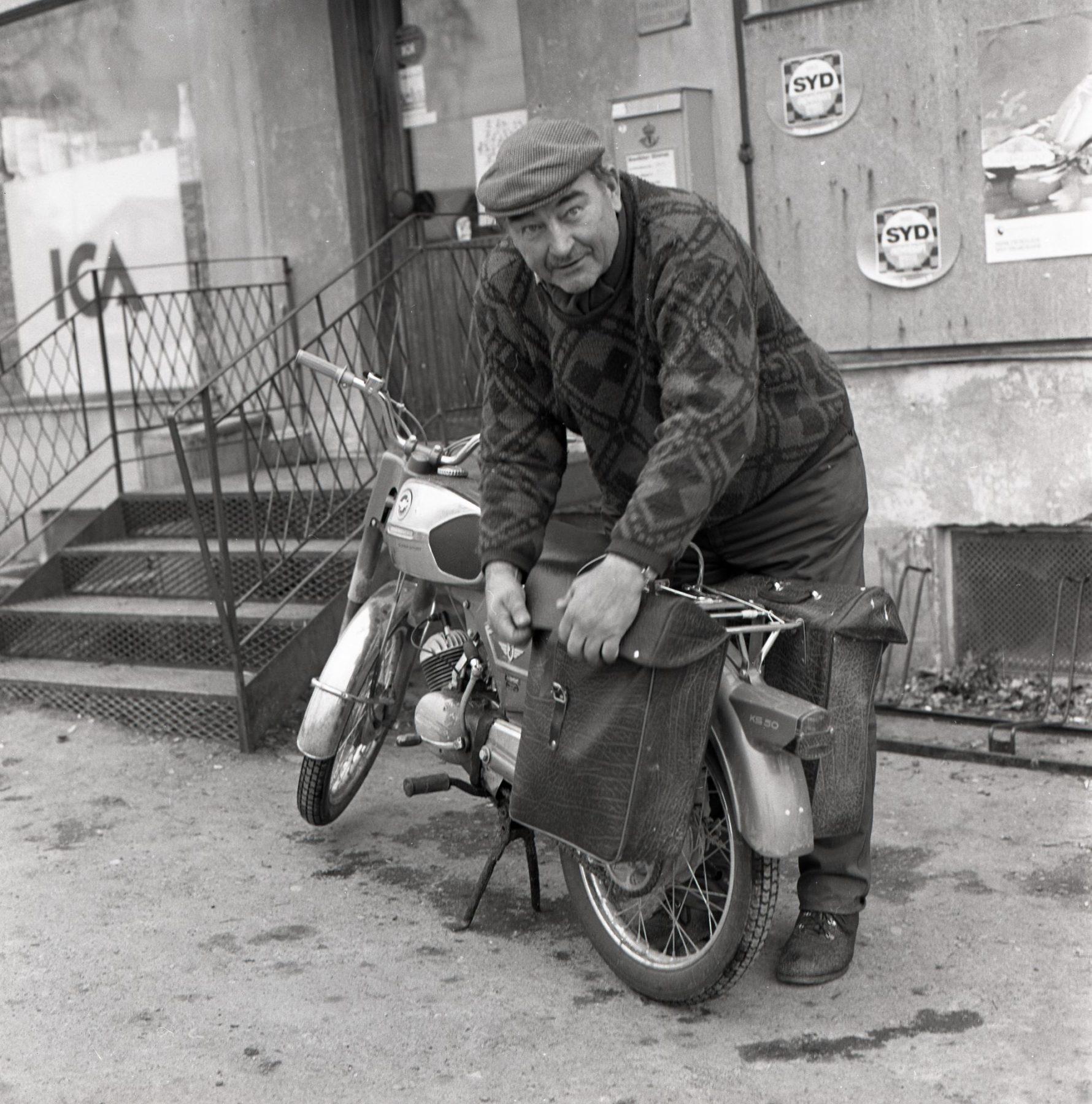 Man med moped