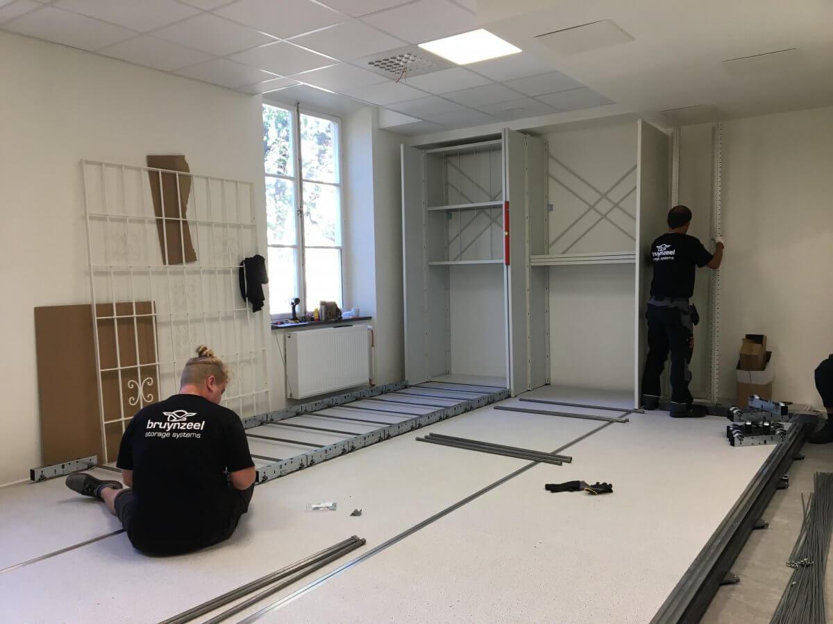 Museets nya konstmagasin under uppbyggnad