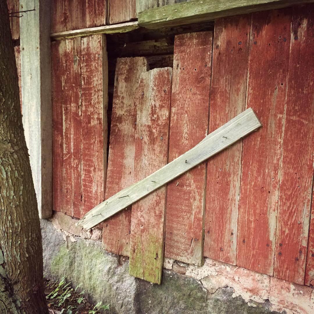 Fasad av trä