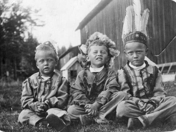Tre små indianer