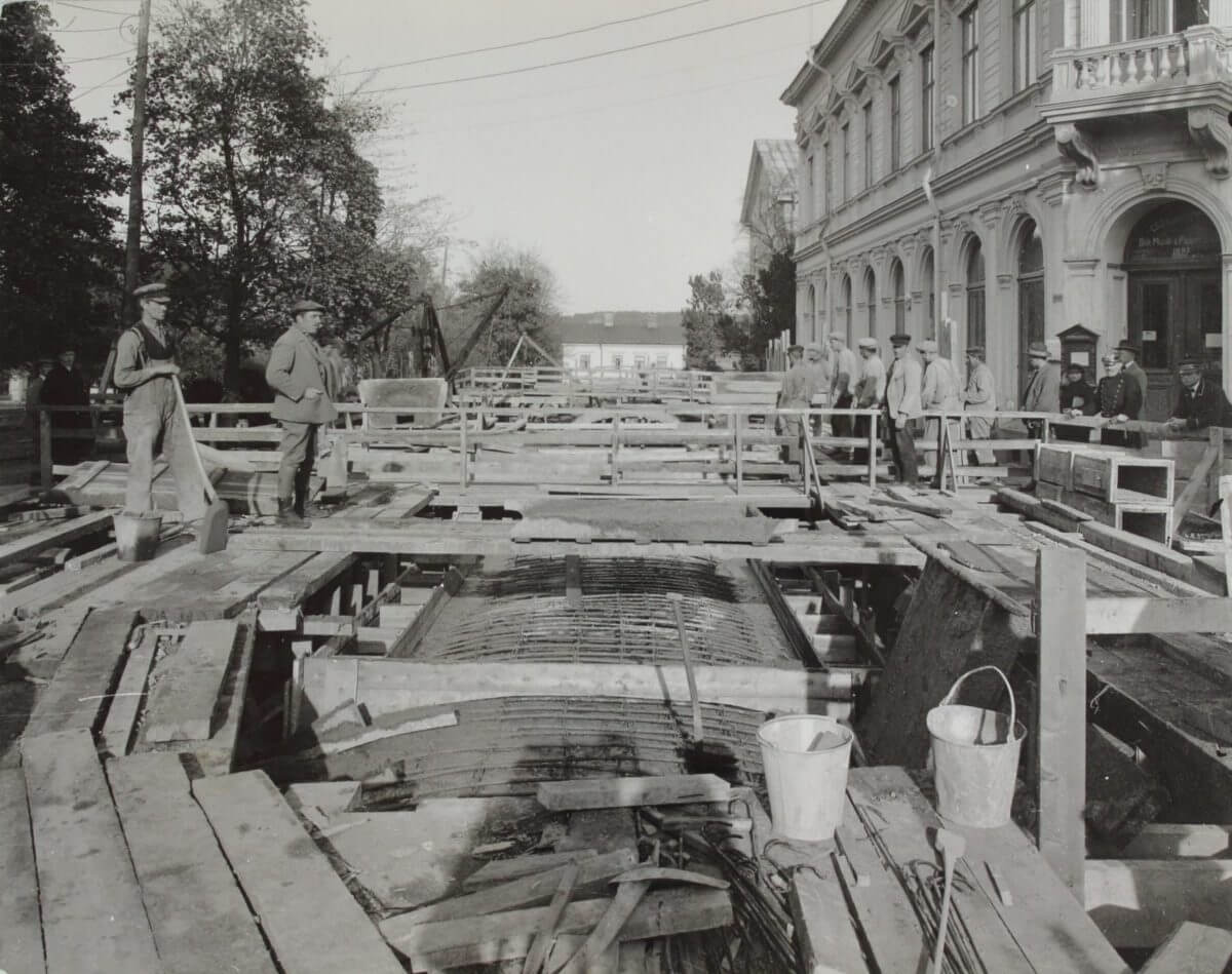 Tunnelbygge i Hudiksvall
