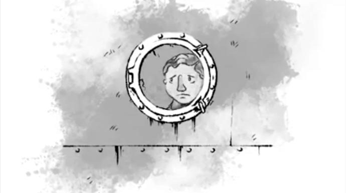 Stillbild från filmen Båtflykting