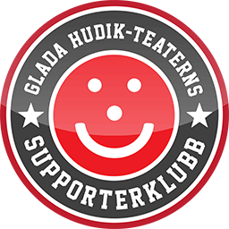 Glada Hudik-teaterns Supporterklubbs logotyp