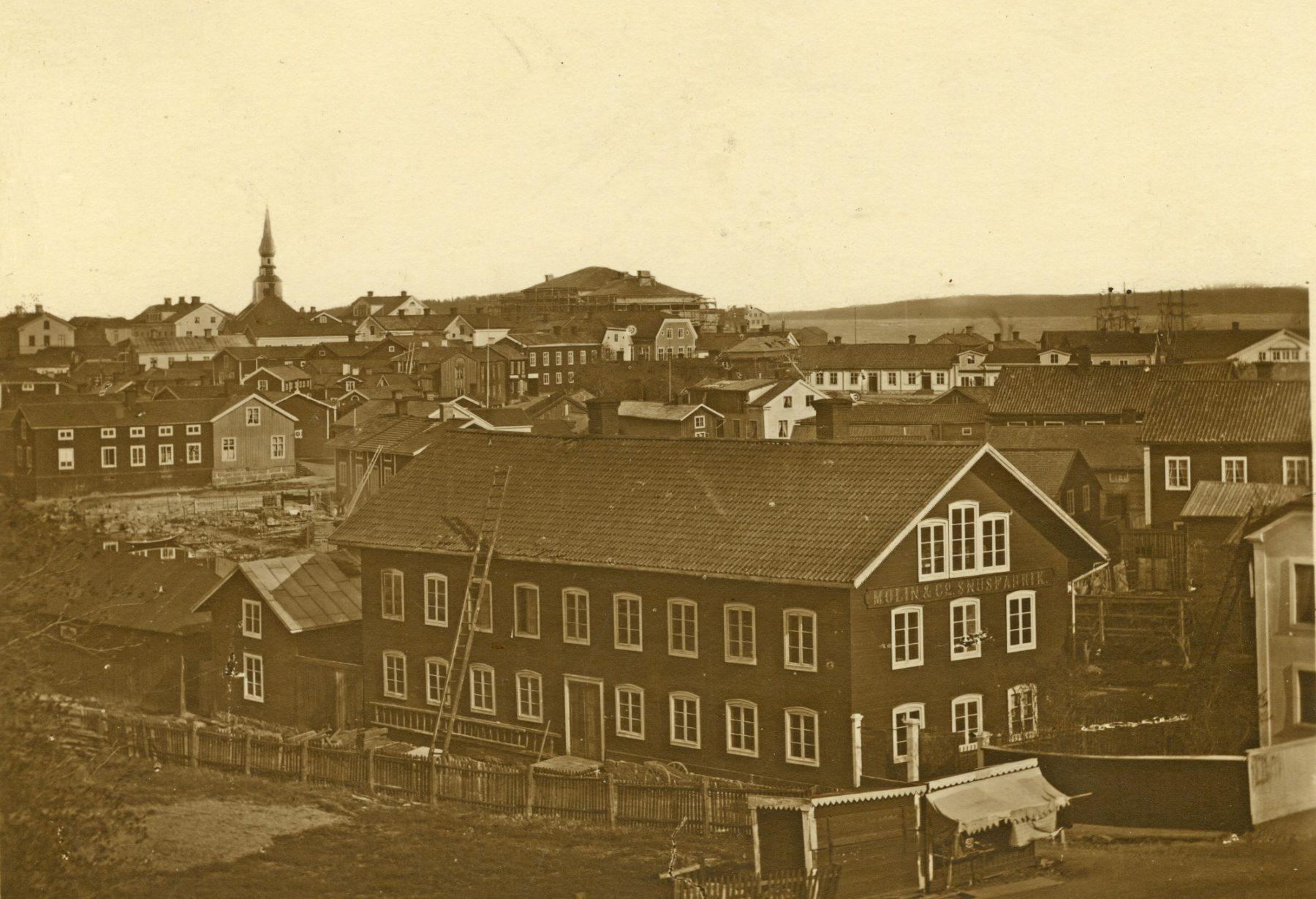 Vy över Hudiksvall