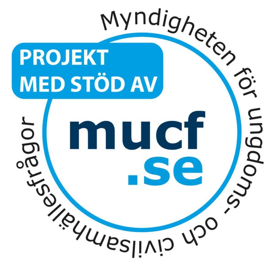 Myndigheten för ungdoms- och civilsamhällesfrågors logotyp använd vid projektstöd.