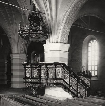 Predikstol i Heliga Trefaldighets kyrka, Gävle