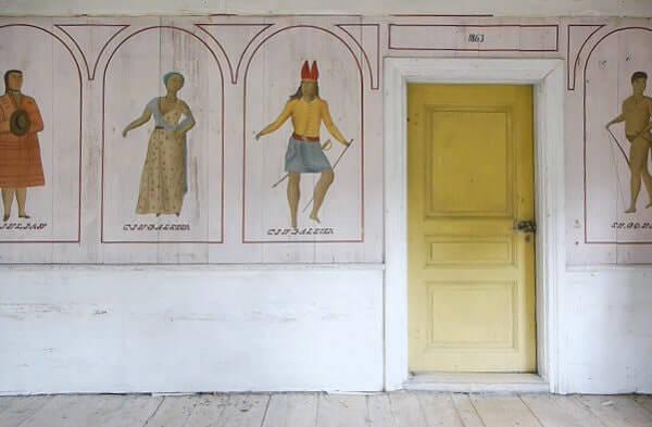 Visningar av Slåttagårdens väggmåleri